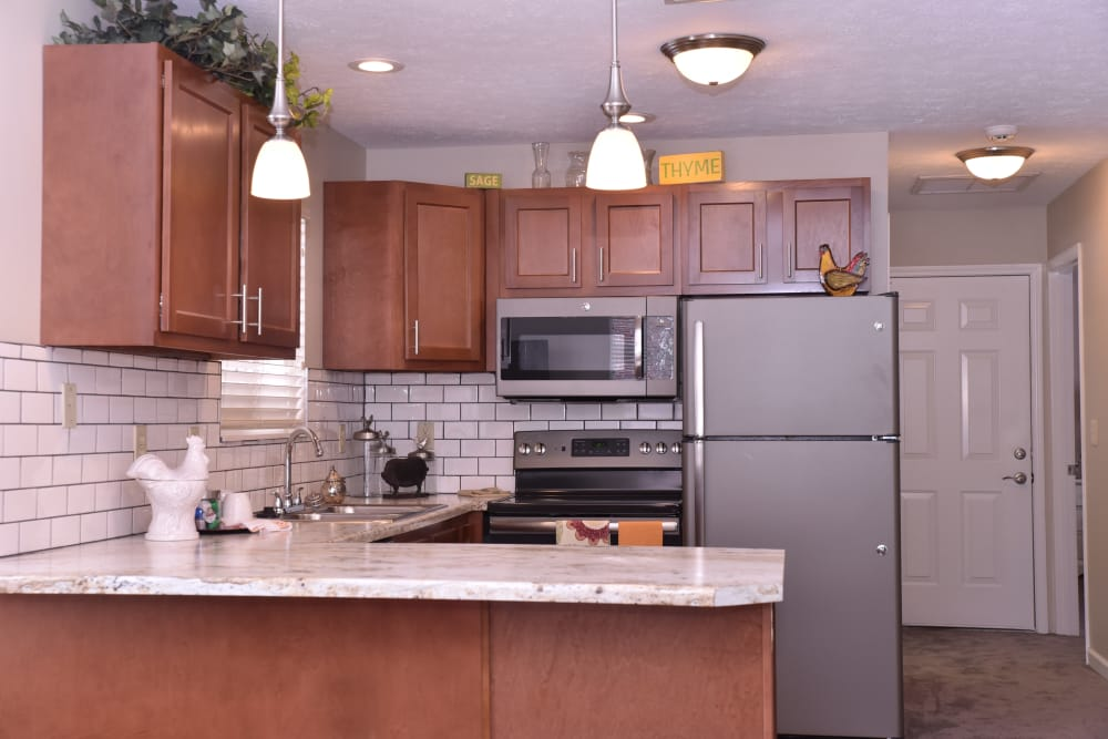 Villa kitchen at Ashford Place Health Campus in Shelbyville, Indiana