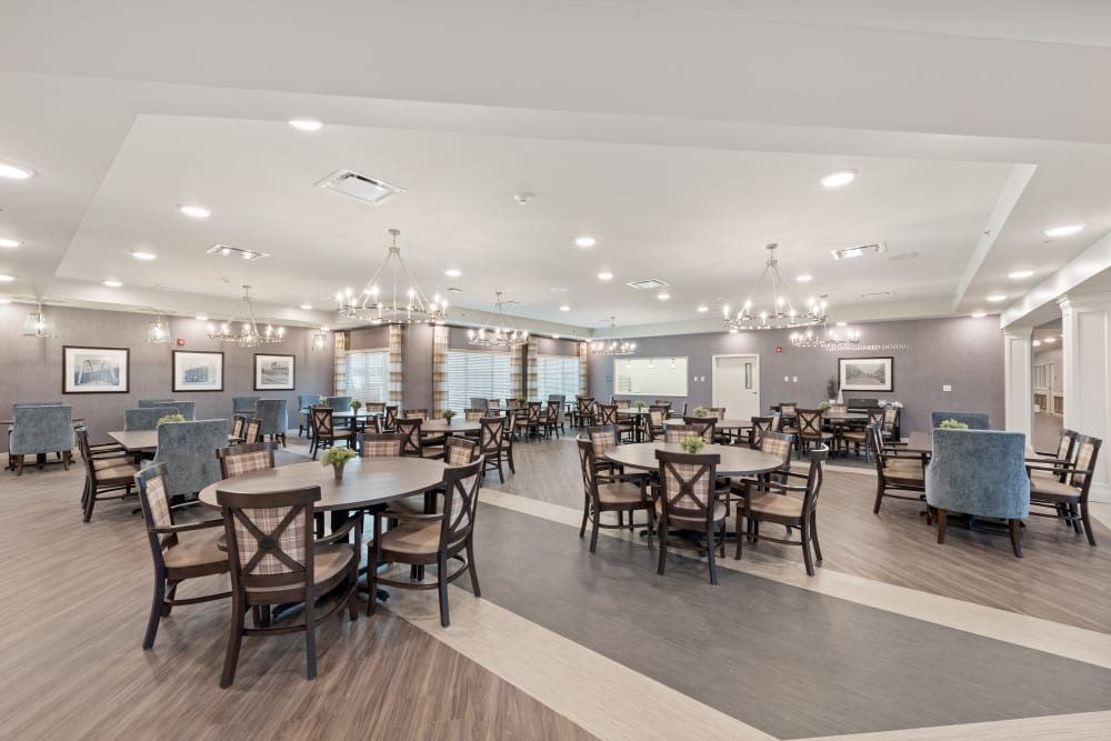 Dining area at Boonesboro Trail Senior Living