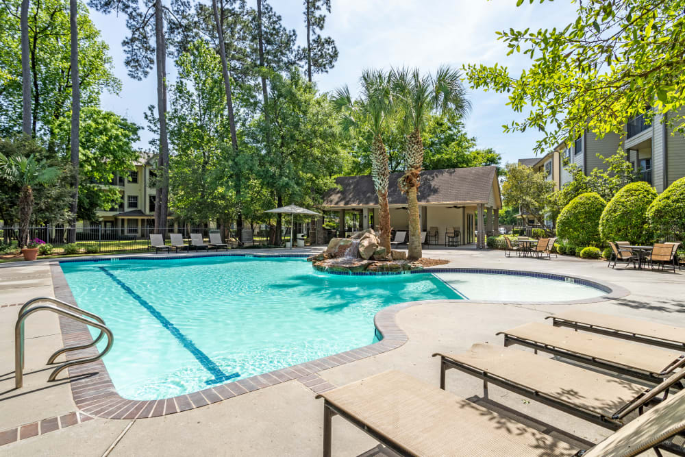 Parc @ Champion Forest offers a beautiful pool area in Houston, Texas