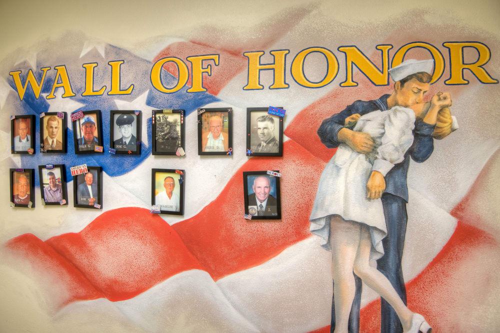 Wall of Honor at Inspired Living Hidden Lakes in Bradenton, Florida.