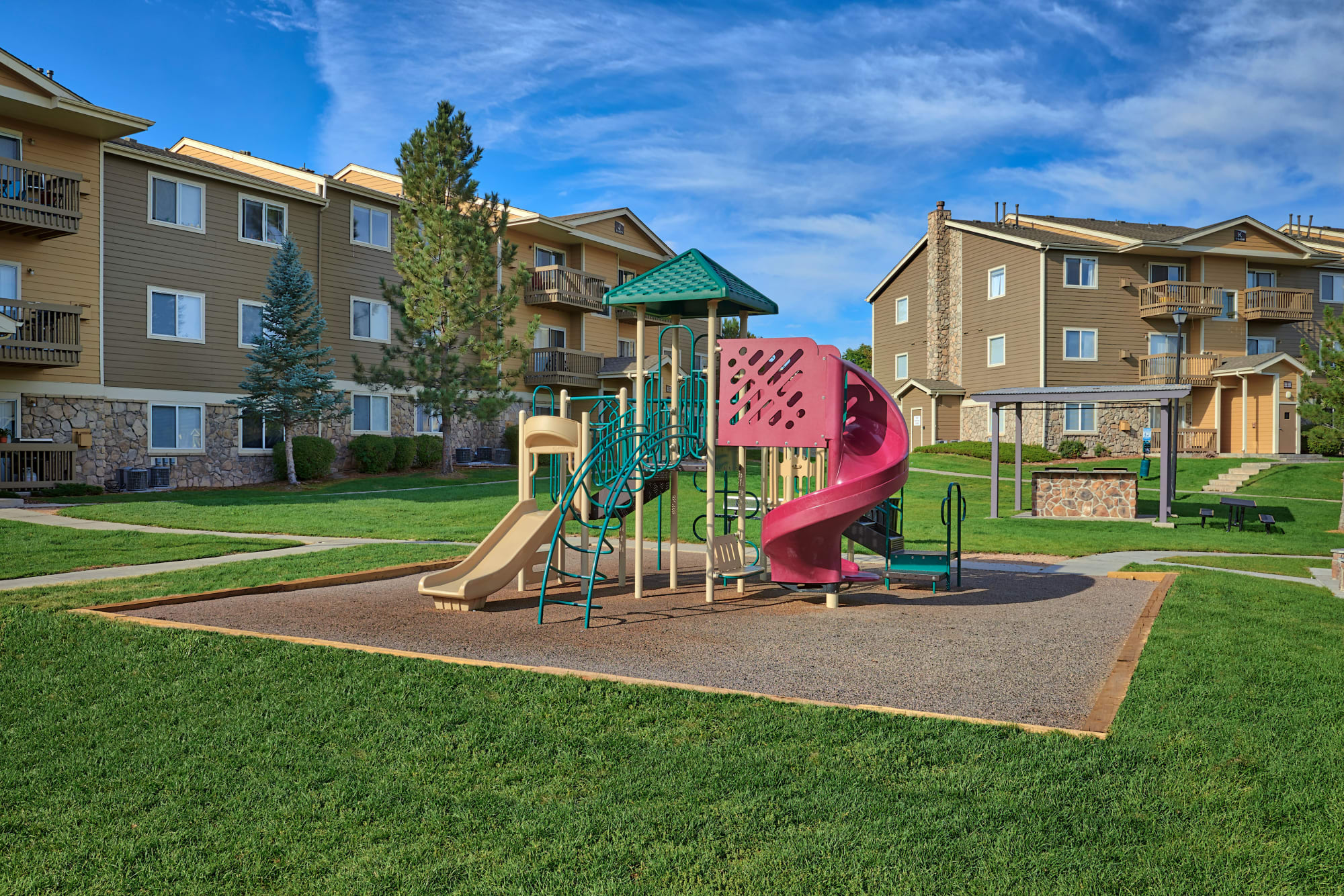 Playground at Crossroads at City Center Apartments in Aurora, Colorado
