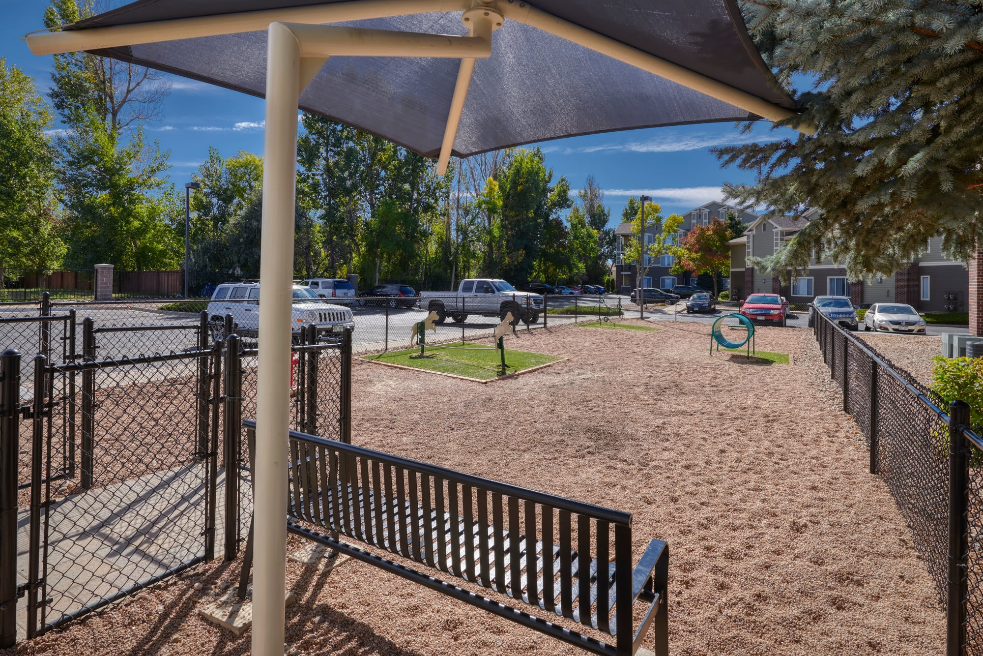 Large off-leash Dog Park at Legend Oaks Apartments in Aurora, Colorado
