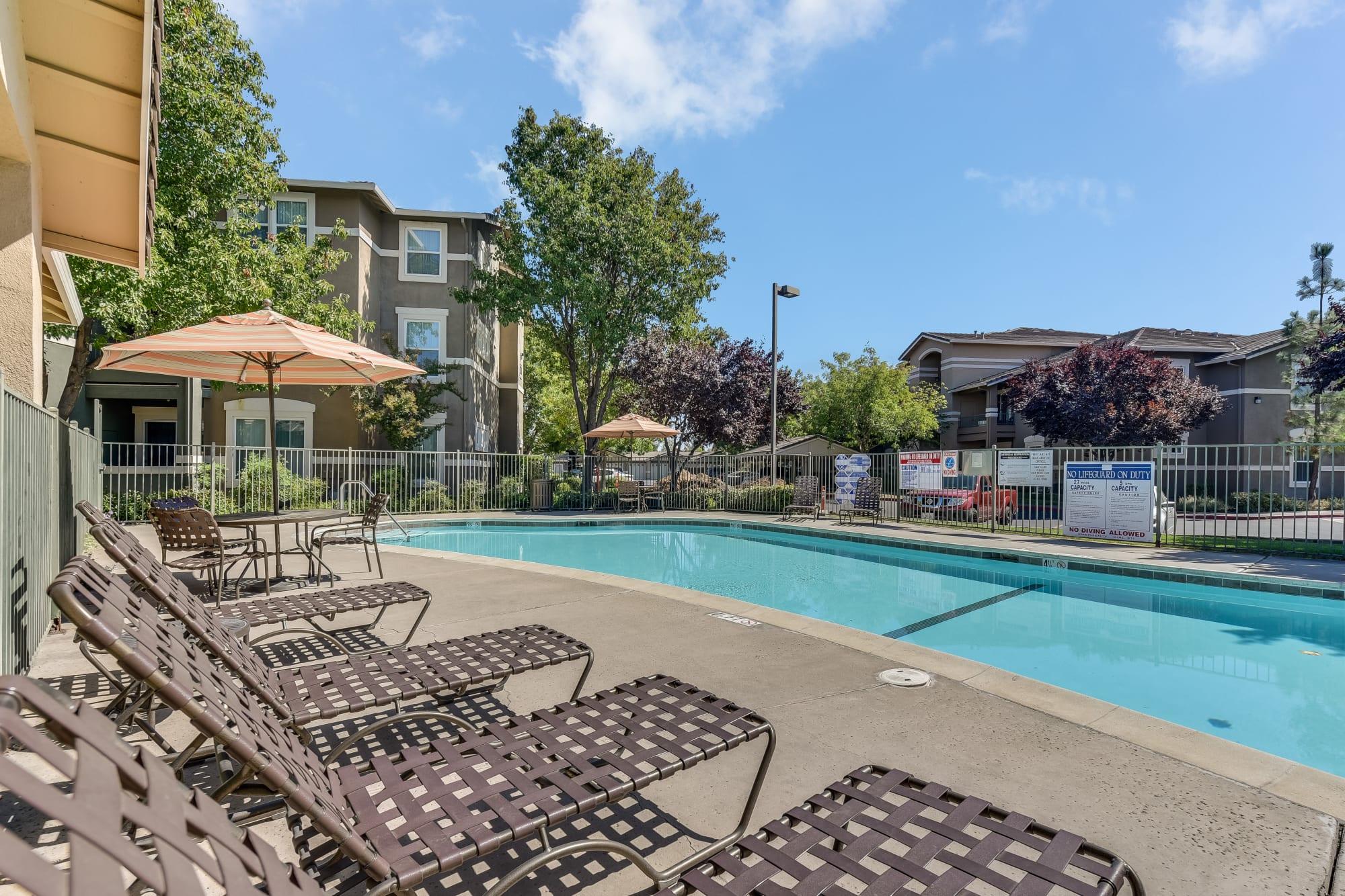 Poolside at Natomas Park Apartments in Sacramento, California