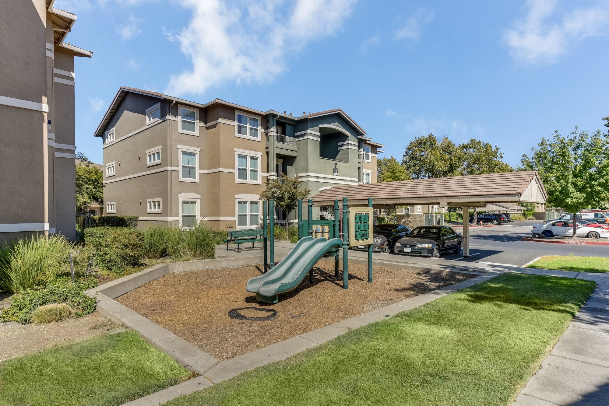 A playground at Natomas Park Apartments in Sacramento, California