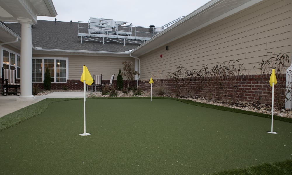 Mini Golf Course at The Willows at Tiffin in Tiffin, Ohio.