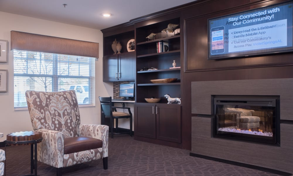 Enjoy a Common Area at Violet Springs Health Campus in Pickerington, Ohio.