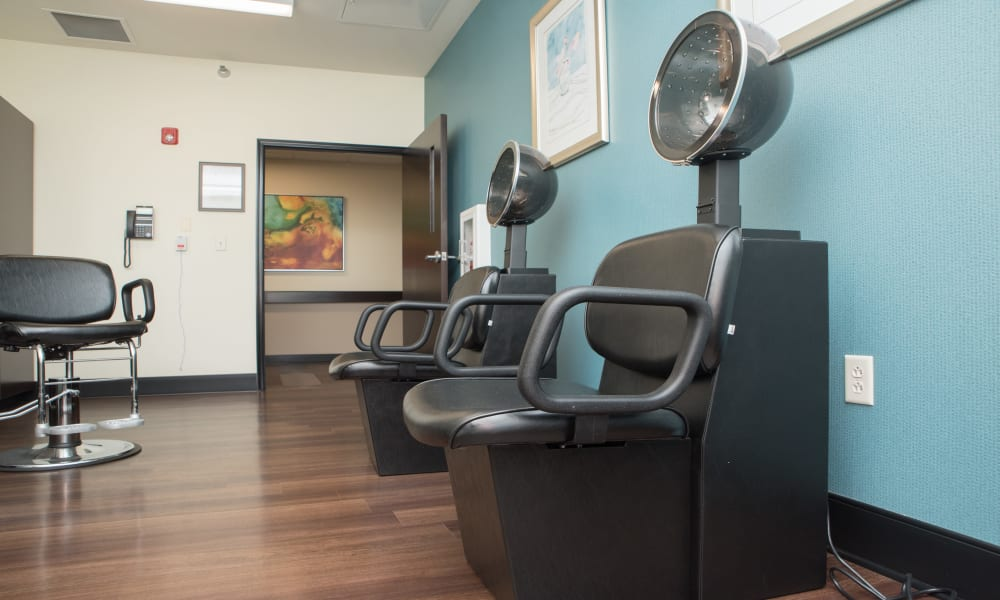 The onsite hair salon at Violet Springs Health Campus in Pickerington, Ohio.