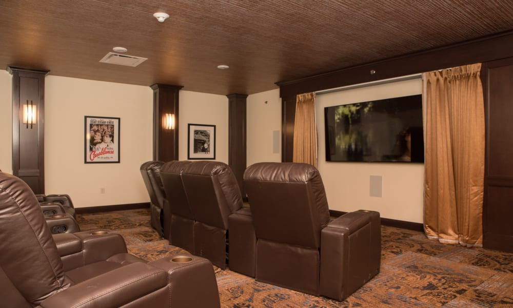 A Movie theater for residents at Violet Springs Health Campus in Pickerington, Ohio.