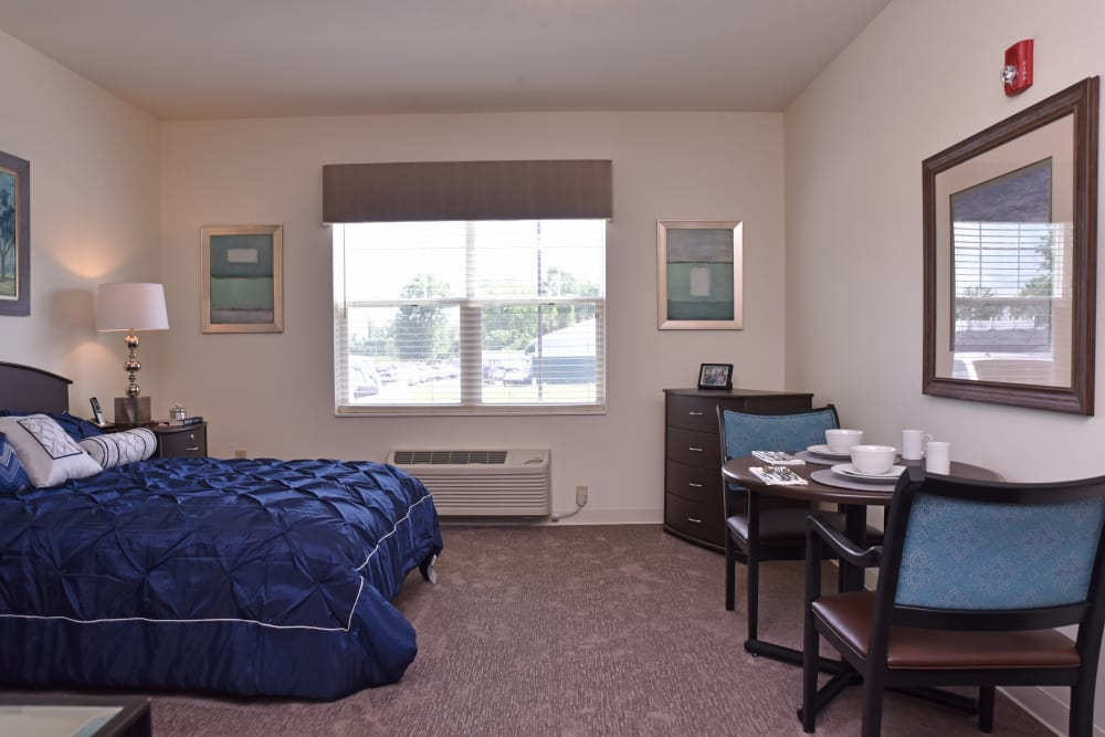 Model bedroom at Violet Springs Health Campus in Pickerington, Ohio.