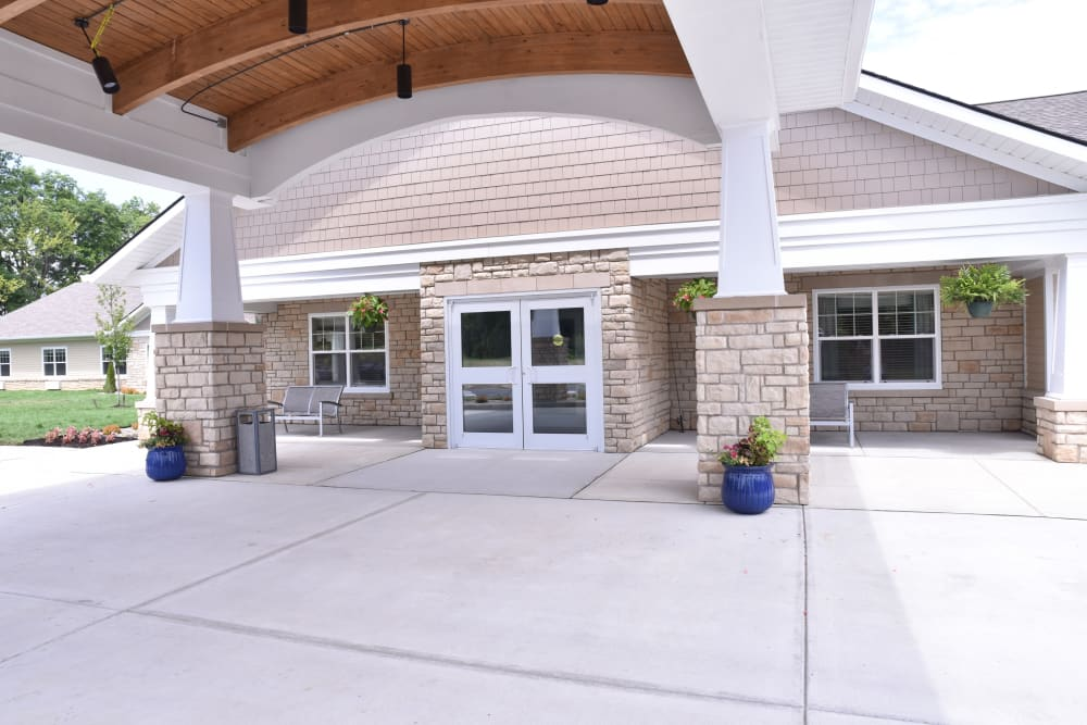 Main entryway at Violet Springs Health Campus in Pickerington, Ohio.