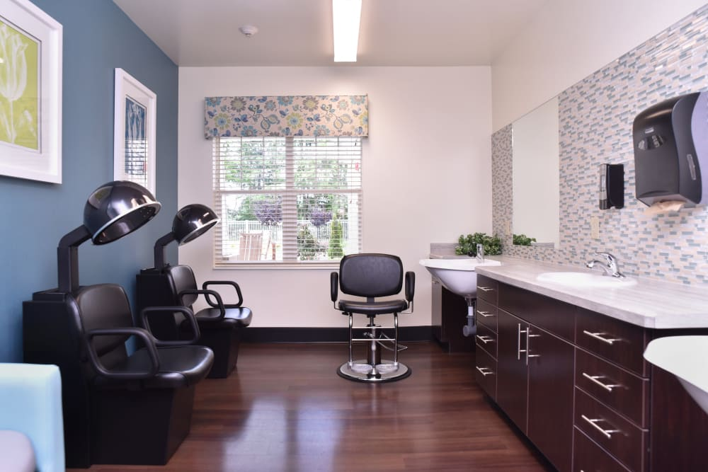 Hair salon at Violet Springs Health Campus in Pickerington, Ohio.