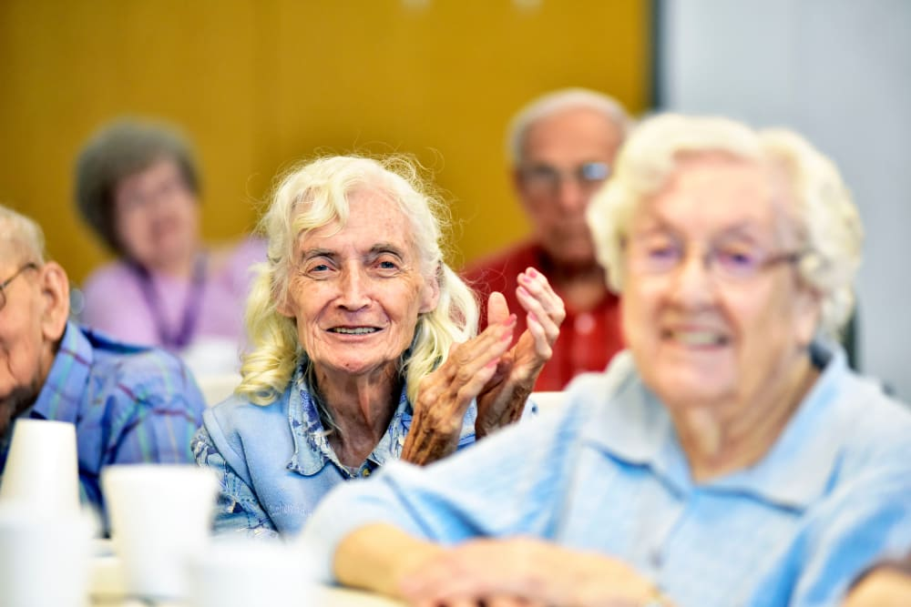 Elderly residents having fun at Garden Living Millstadt in Millstadt, Illinois