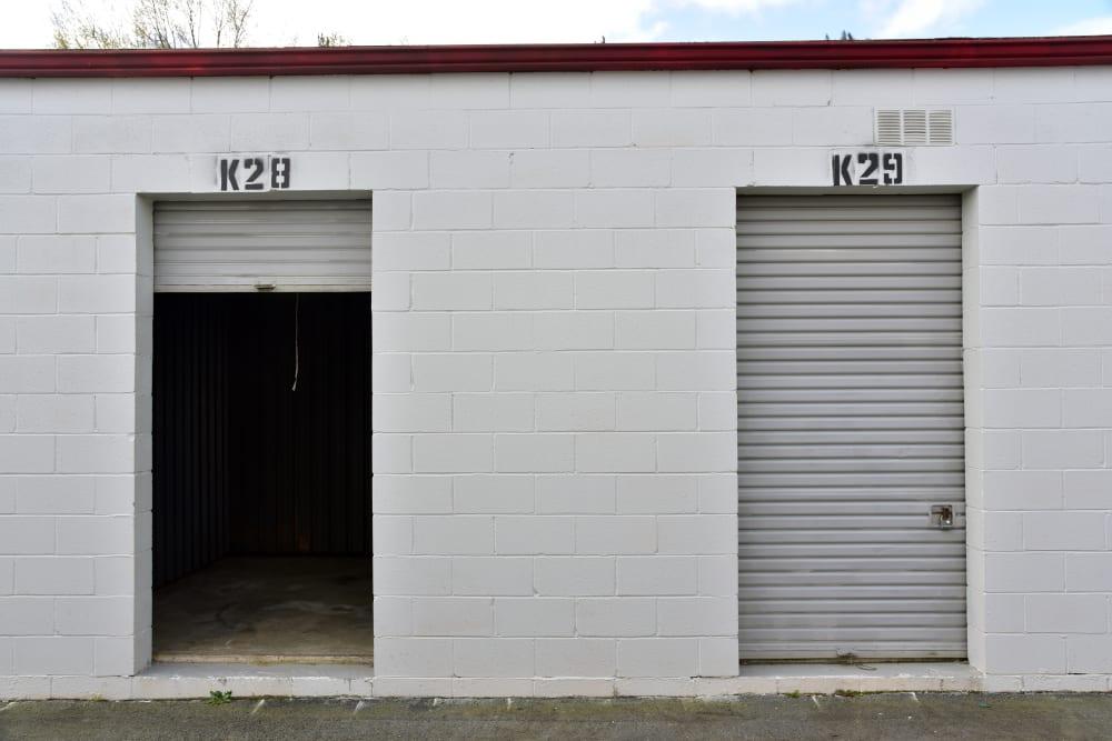 Open storage unit at StayLock Storage in Warner Robins,GA