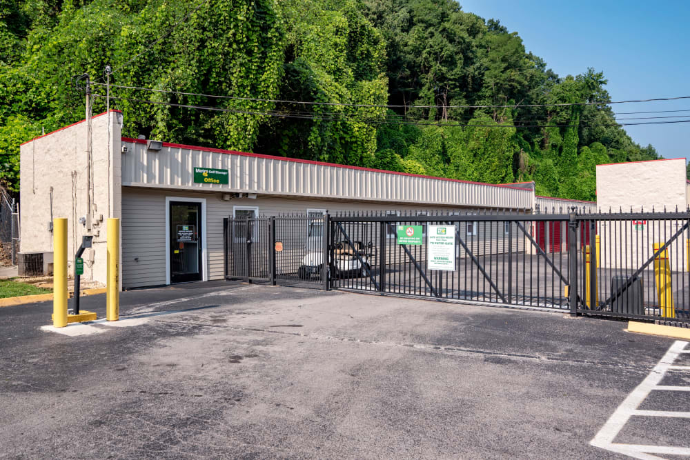 Keypad access to gated area and office entrance at Metro Self Storage in Knoxville6