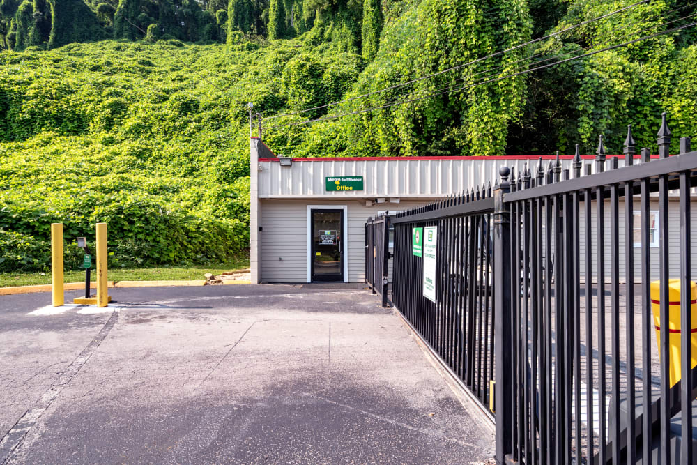 Exterior view of office at Metro Self Storage in Knoxville