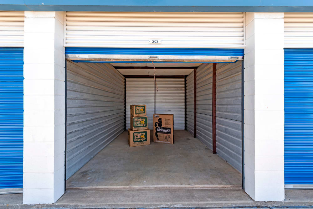Outdoor units at Metro Self Storage in Plainview, Texas