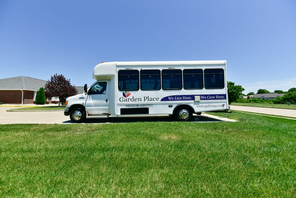 Activities bus at Garden Place Columbia in Columbia, Illinois.