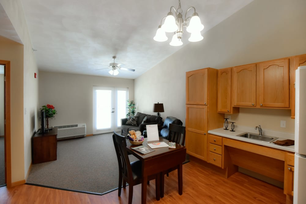 Resident apartment at Garden Place Waterloo in Waterloo, Illinois.