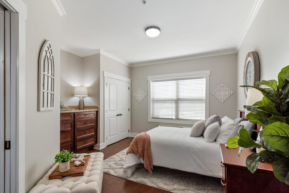 Bedroom of private apartment at Truewood by Merrill, Powell in Powell, Tennessee.