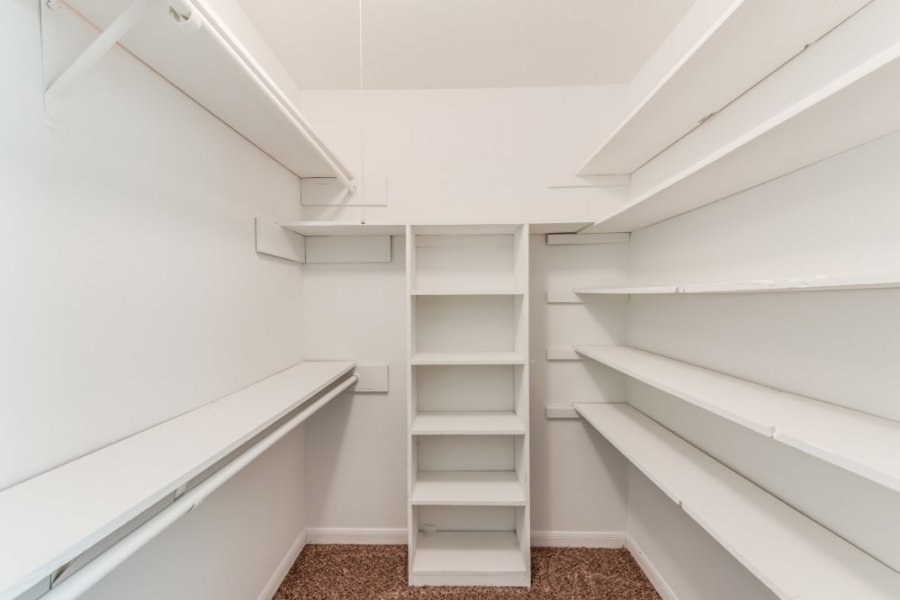 Spacious walk in closet at Newport at Clear Lake in Houston, Texas