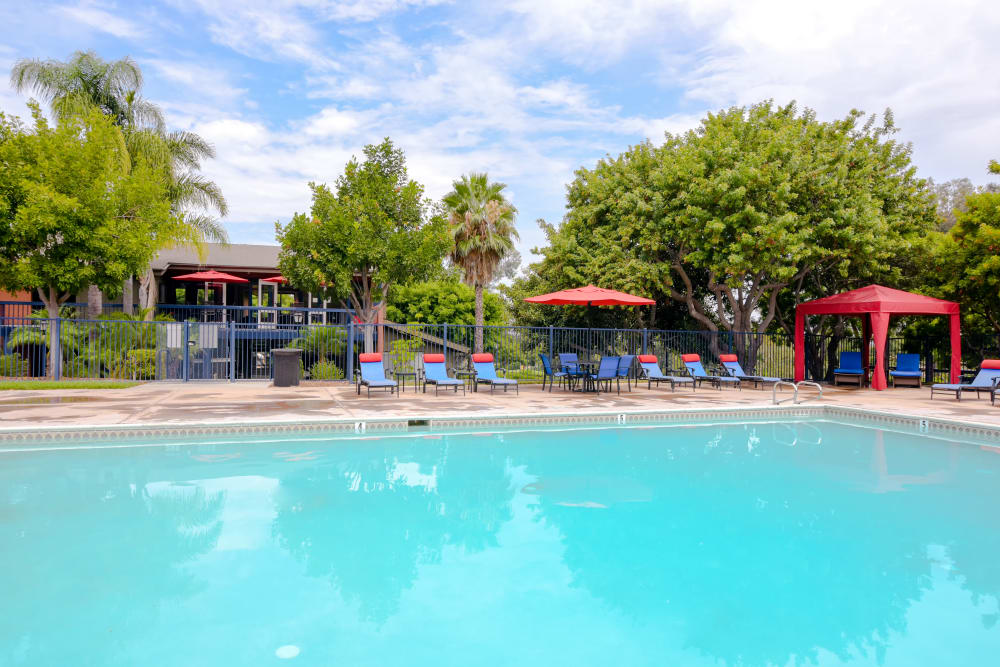 Gorgeous swimming pool at Presidio at Rancho Del Oro in Oceanside, California