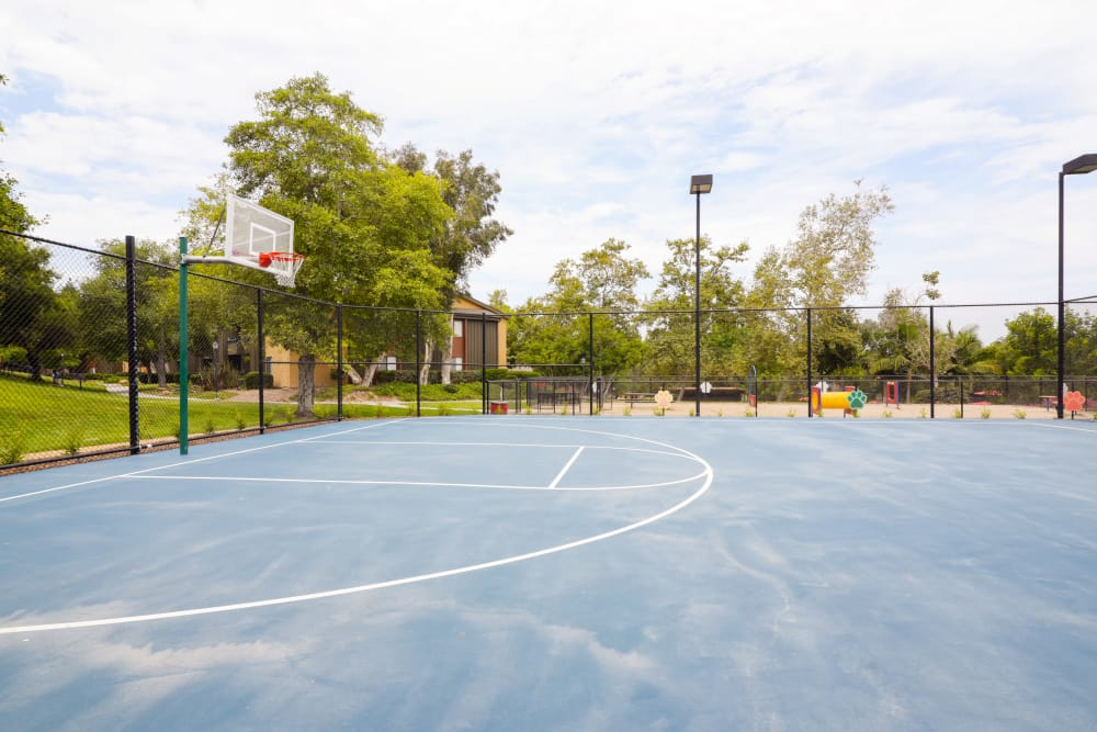 Basketball court at Presidio at Rancho Del Oro in Oceanside, California