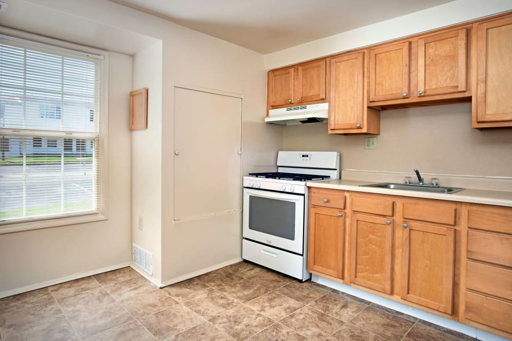 Our spacious apartments in Middle River, Maryland showcase a kitchen