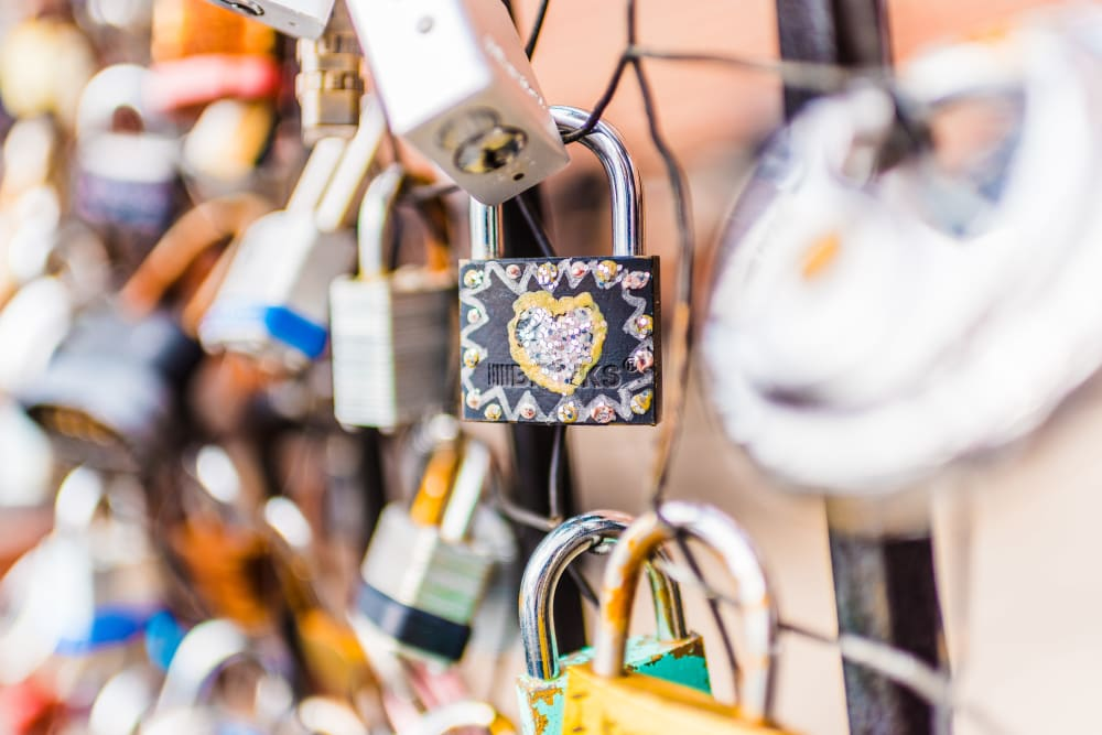 Decorated padlock