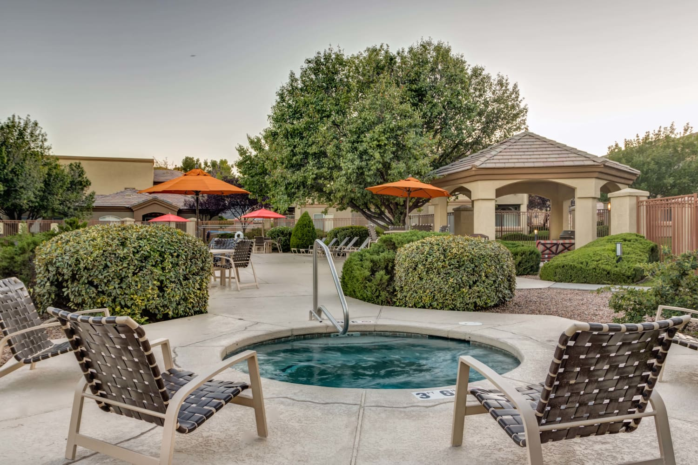 Outdoors hot tub at The Links at High Resort in Rio Rancho