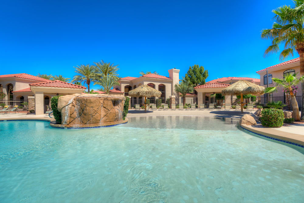 Beautiful swimming pool at San Lagos in Glendale, Arizona