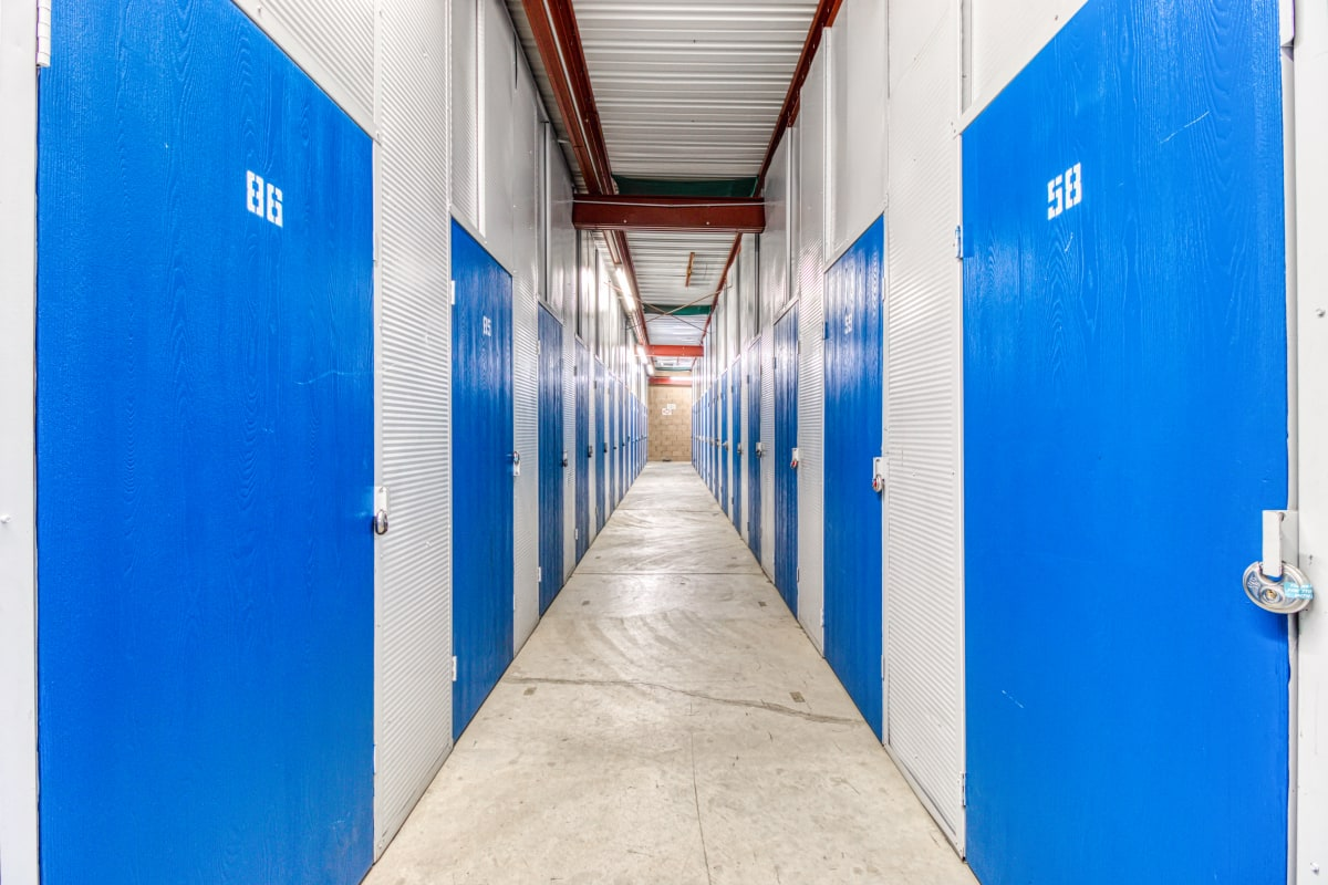 Climate-controlled storage units at Devon Self Storage in Palm Springs, California