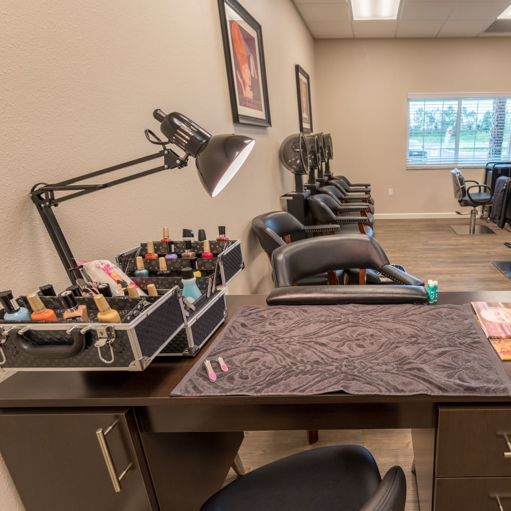 onsite salon at Inspired Living Ivy Ridge in St Petersburg, Florida