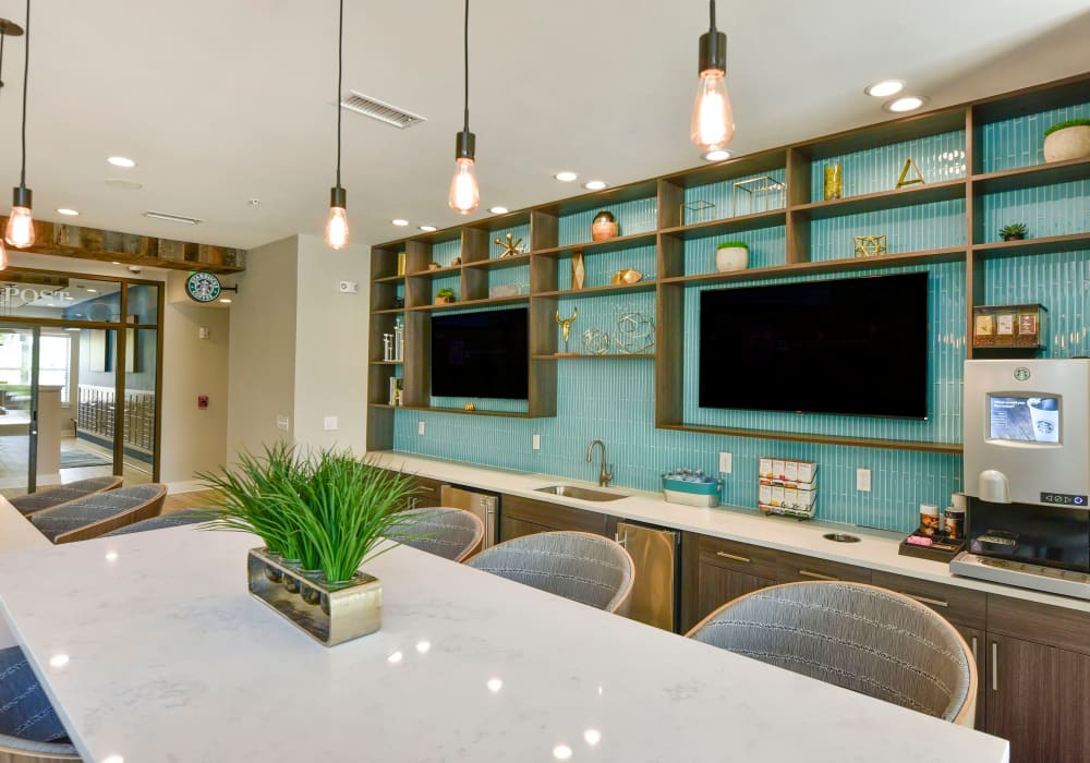 Luxury kitchen in Axis Berewick's clubhouse in Charlotte, North Carolina
