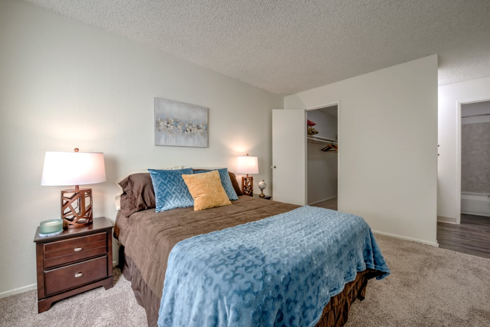 Comfortable bedroom in our Studio City, CA apartments