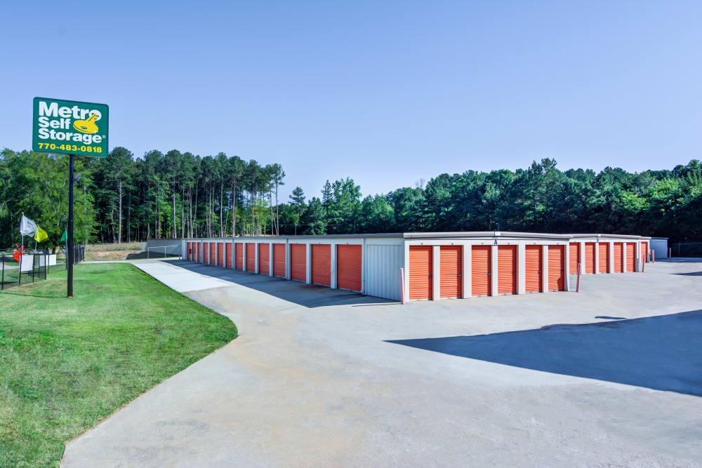 Exterior view of Metro Self Storage in Conyers, Georgia