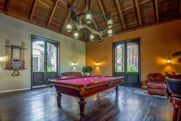 Resident clubhouse game room at Mariners Village in Marina del Rey, California