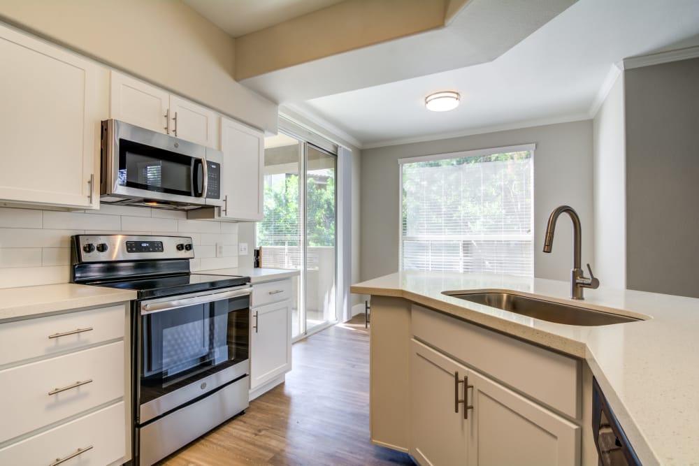 Modern kitchen at apartments in Chandler, Arizona