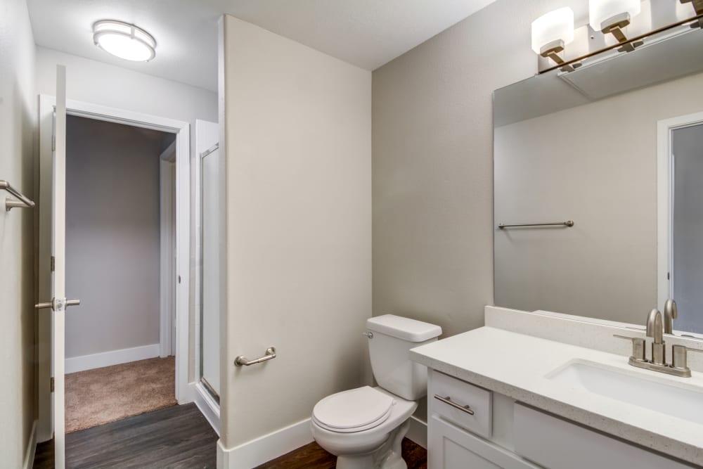Beautiful bathroom at apartments in Chandler, Arizona