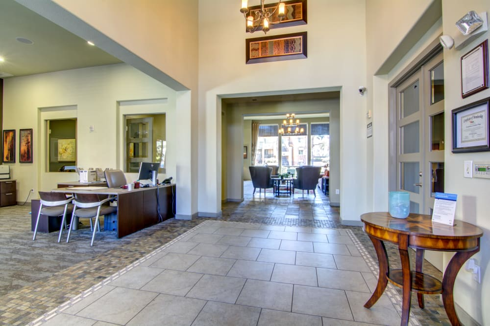 Business area at apartments in Surprise, Arizona