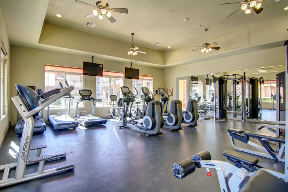 Fitness center at apartments in Surprise, Arizona
