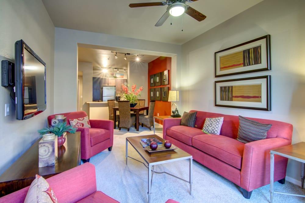 Apartment living room in Surprise, Arizona