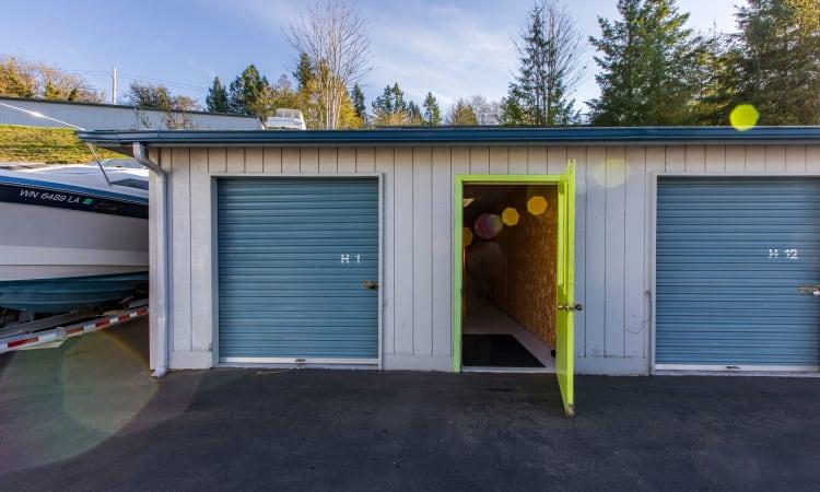 Glacier West Self Storage features clean exterior storage units in Belfair, Washington