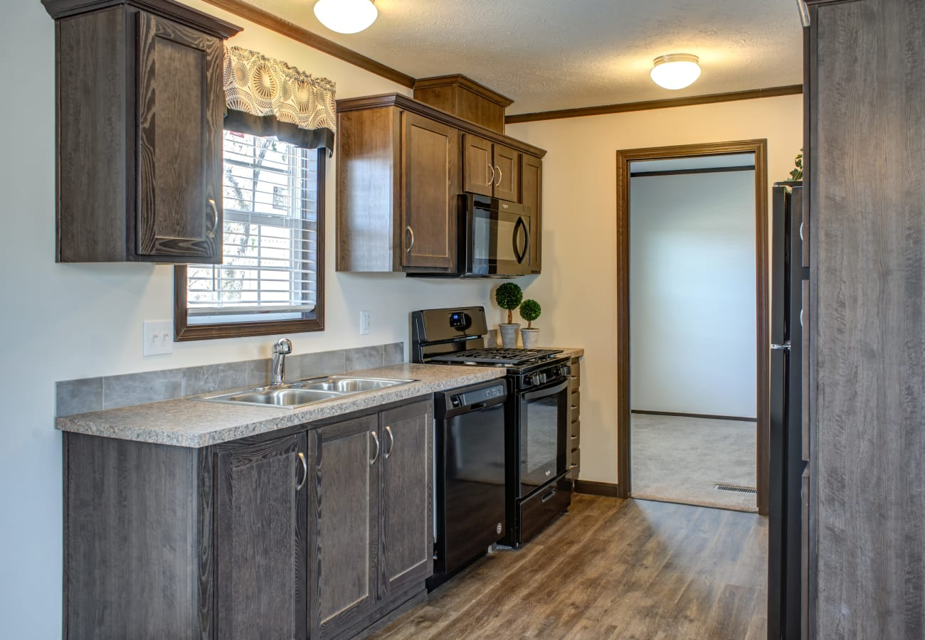 Fully equipped kitchen at Maplewood Estates in Omaha, Nebraska