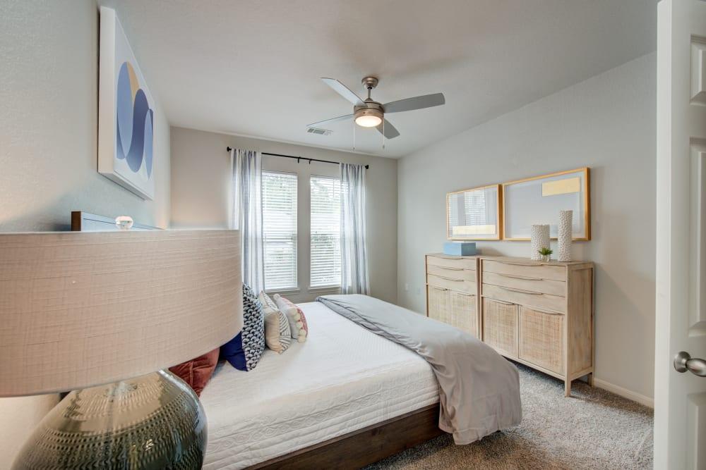 Model bedroom at Ingleside Apartments in North Charleston, South Carolina