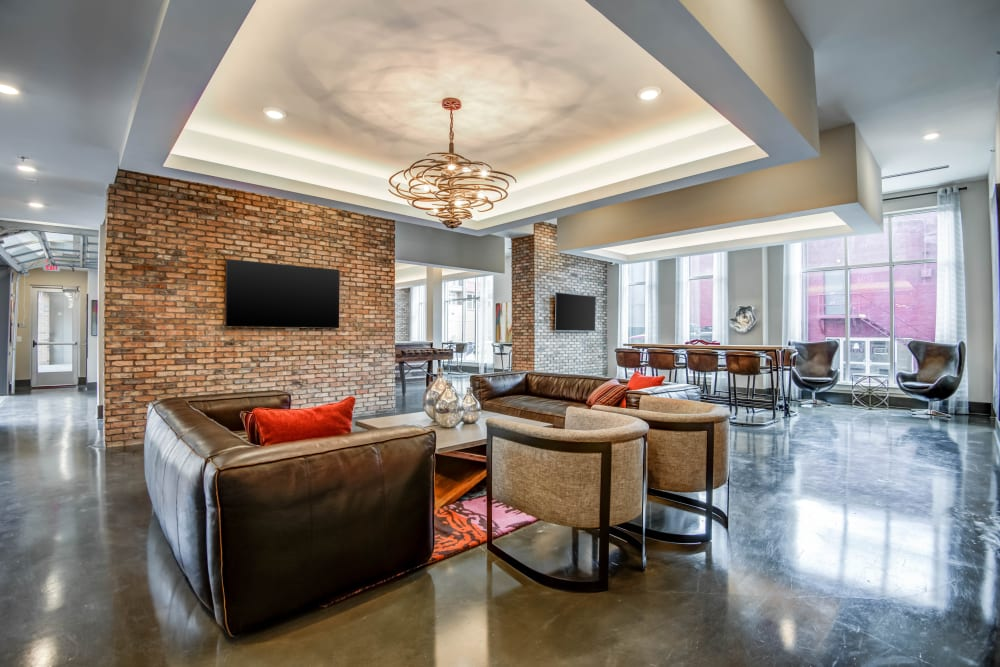 Clubhouse at Mercury NoDa in Charlotte, North Carolina