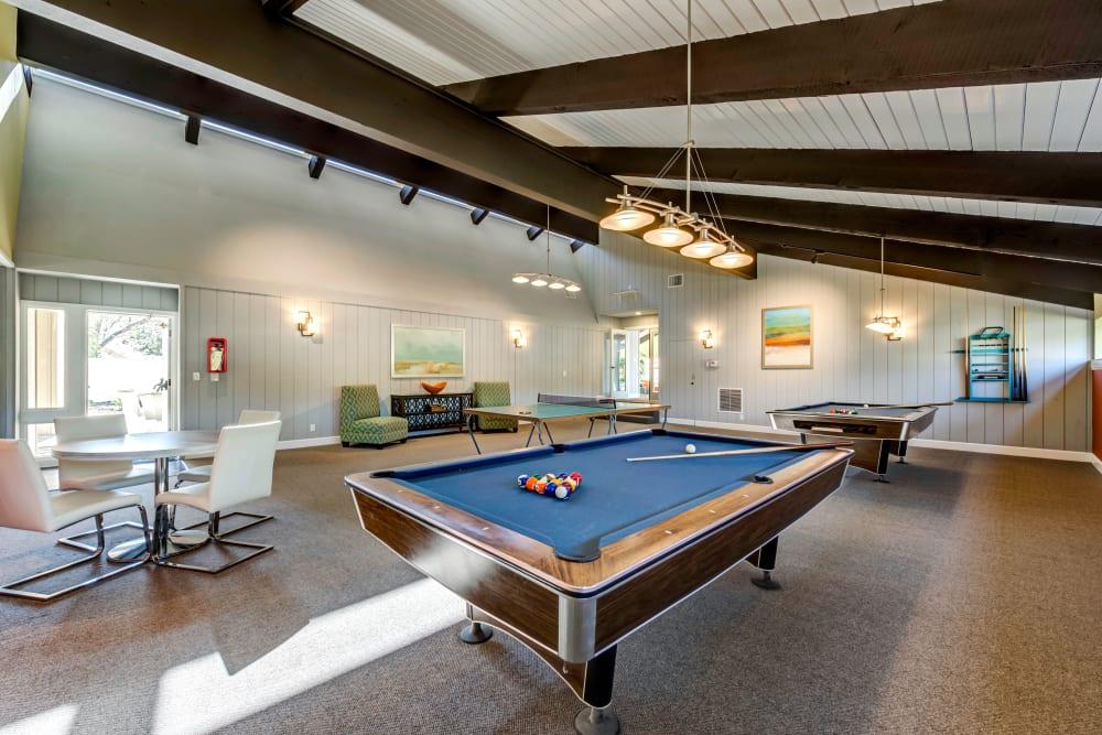 Billiards and more in the game room at Sofi Ventura in Ventura, California