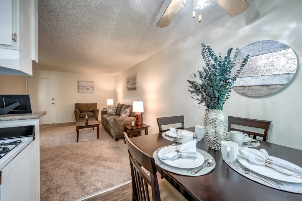 Dining and Living Room at Vista Pointe I in Studio City, CA