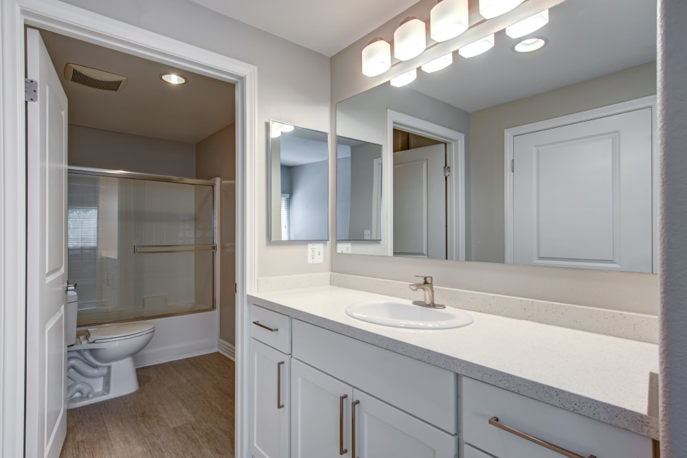 Beautiful bathroom at Avana North Hollywood Apartments in North Hollywood, CA