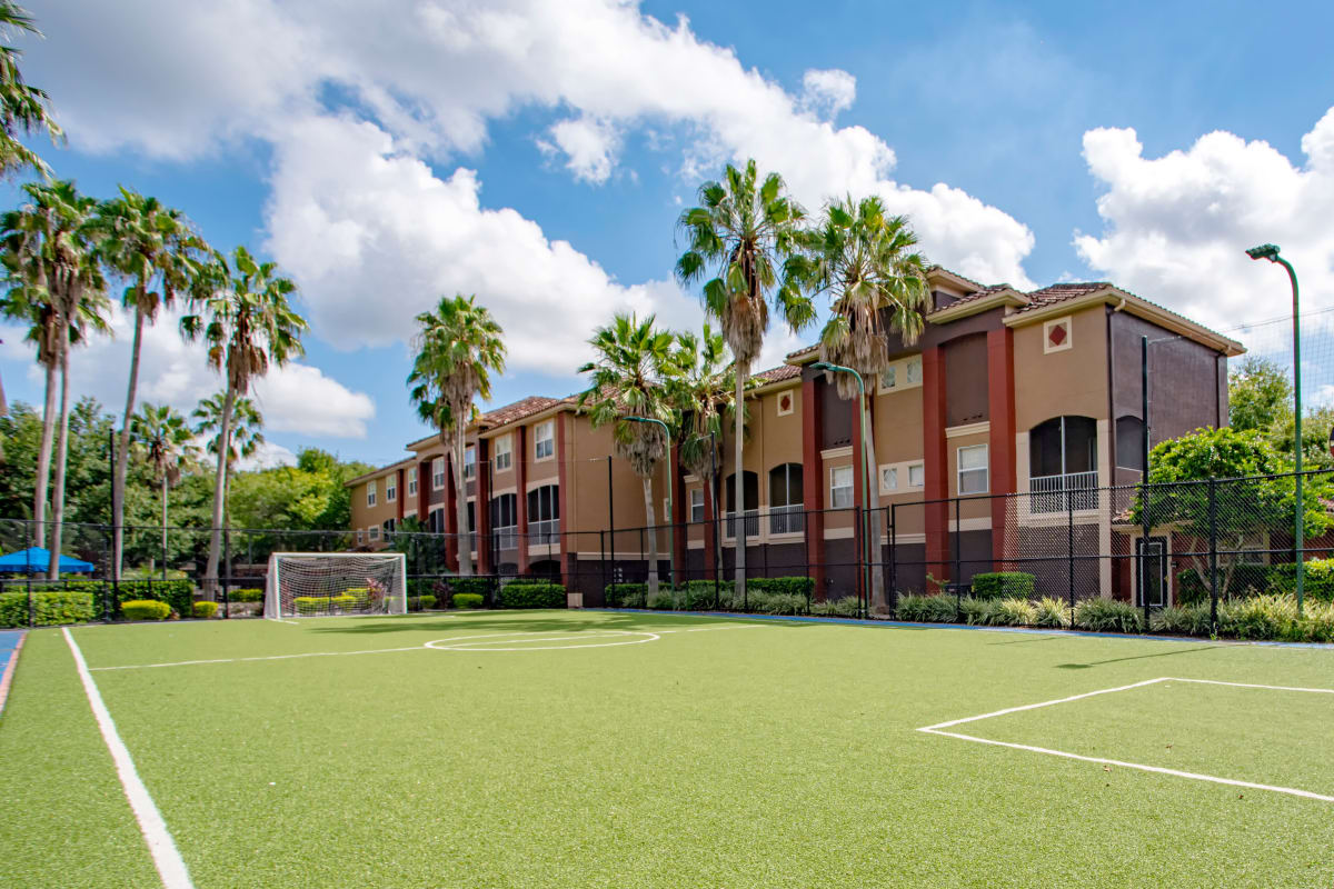 Outdoor soccer court at Amara at MetroWest in Orlando, Florida