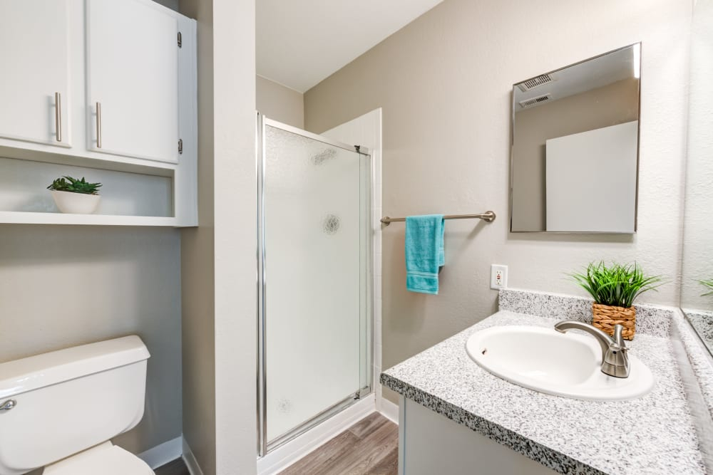 Bathroom at Granada Villas Apartment Homes in Lancaster, California